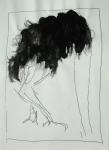 autruche,19x17 cm -Mixed media on paper-2006