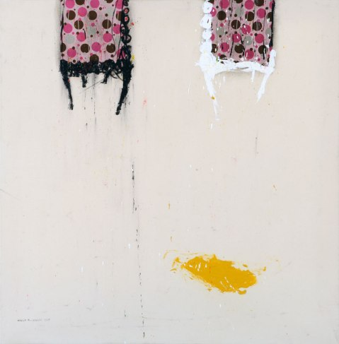 WM104 Walid EL-MASRI 'Chairs' 150 X 150 cm. Mixed Media on Canvas 2009