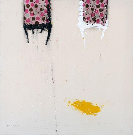 WM104 Walid EL-MASRI 'Chairs' 150 X 150 cm. Mixed Media on Canvas 2009