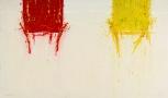 WM129 Walid EL-MASRI 'Chairs' 150 X 250 cm. Mixed Media on Canvas 2009