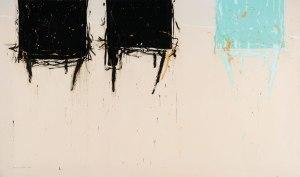 Walid EL-MASRI 'Chairs' 150 X 250 cm. Mixed Media on Canvas 2009