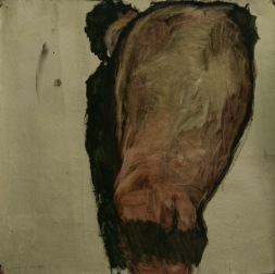 WALID EL MASRI -Man 2004 -Oil on paper 75x73 cm