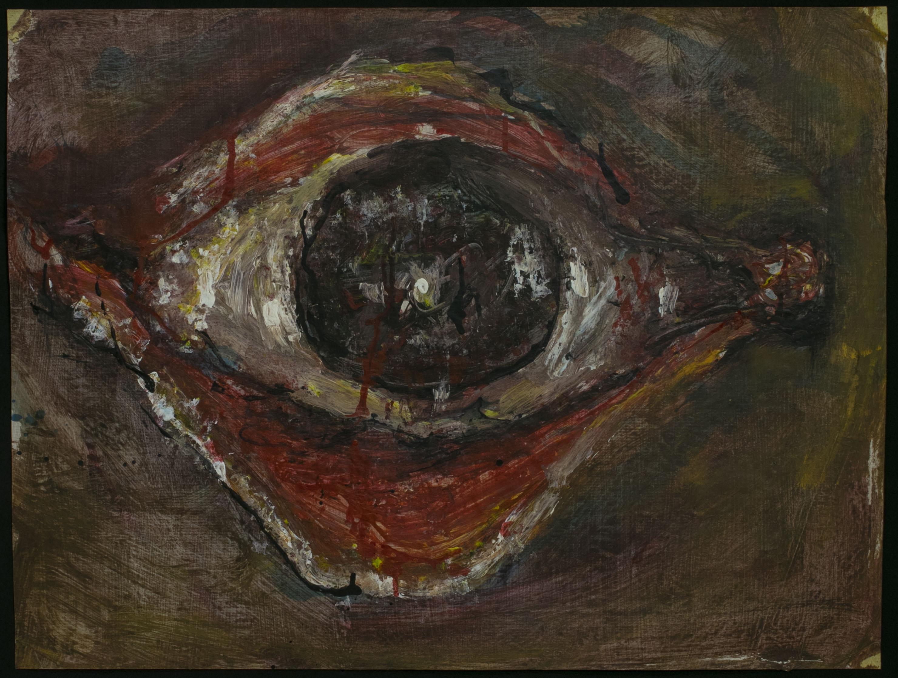 WALID EL MASRI _Eye- 2003 mixed media on paper 50x65 cm