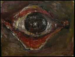 WALID EL MASRI _Eye- 2003 mixed media on paper 50x65 cm
