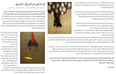 محمد ملاك قراءة في شرانق وليد المصري