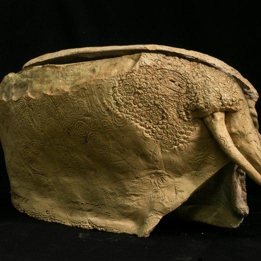 WALID EL MASRI Elefant 2010-2011 Ceramic 85x40x54 cm