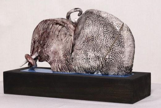 WALID EL MASRI - Elefant 51 - 2010-2011 ceramic-39x20,5x10 cm
