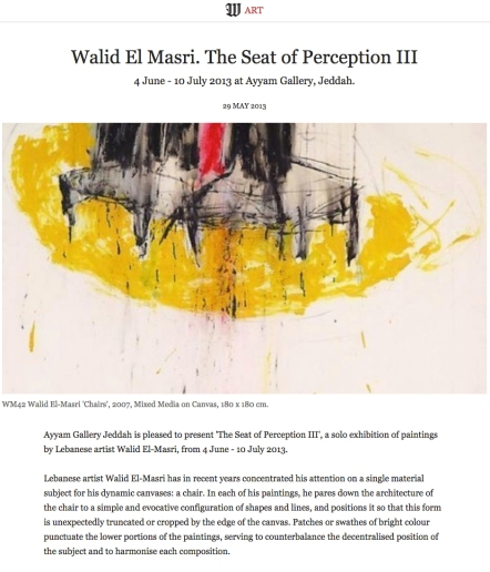 Wall Street Walid El Masri. The Seat of Perception III