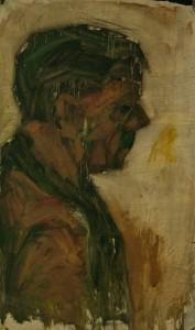 WALID EL MASRI _portrait_mixed media on canvas 85x51cm 2002