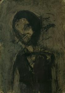 WALID EL MASRI _portrait_mixed media on canvas 73x51cm 2002