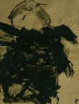 WALID EL MASRI _portrait_mixed media on paper 150x36cm 2003