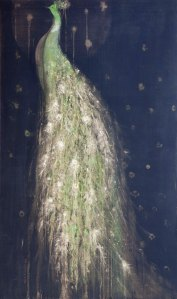 Paon peacock 162x97 cm Mixed Media on Canvs2020